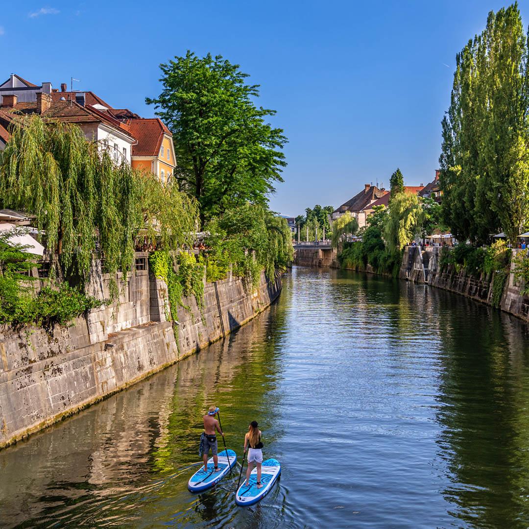 Paddleboarding in Ljubljana