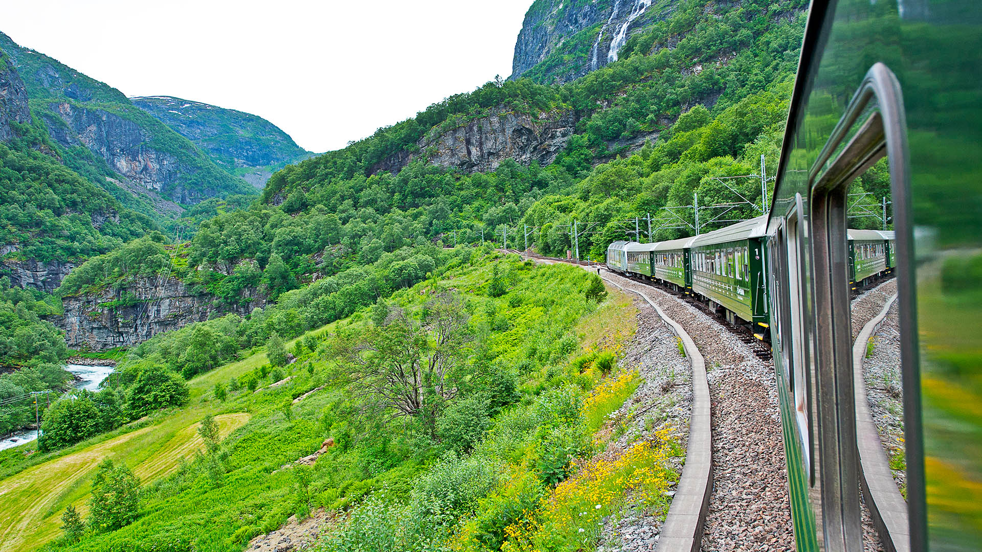 The iconic Flåm railway