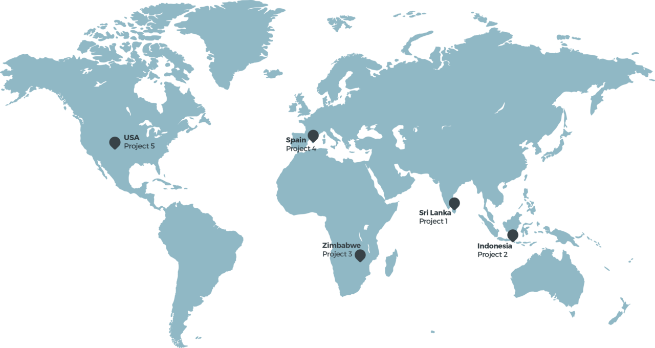 World map of charity associations goetica supports